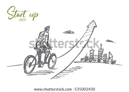 vector hand drawn start up