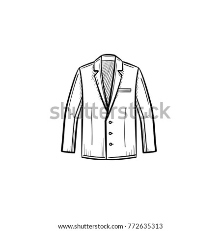vector hand drawn suit jacket