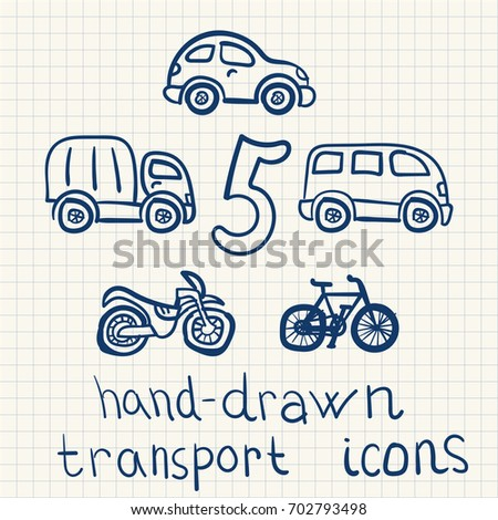 vector hand drawn transports
