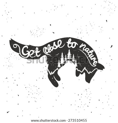 vector hand drawn typographic...