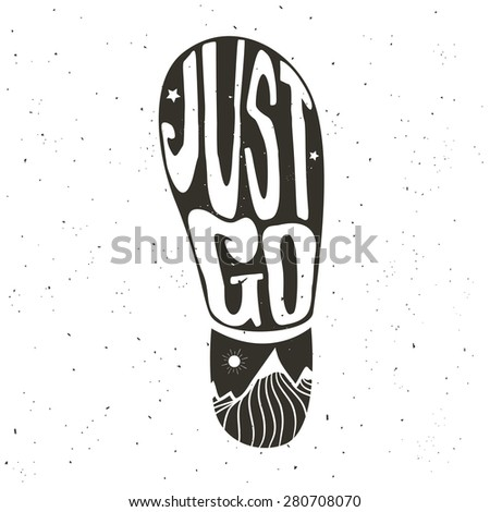 vector hand drawn typography...