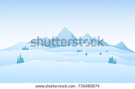 vector hand drawn winter