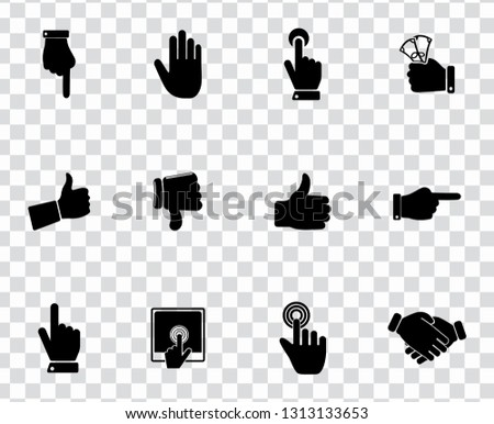 vector hand language icons set - gesture sign symbol. communication icons