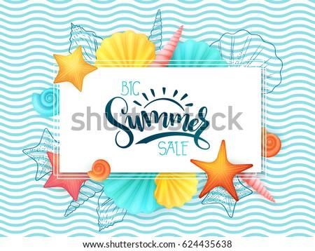 vector hand lettering summer