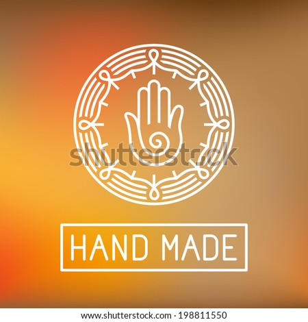 vector hand made label in
