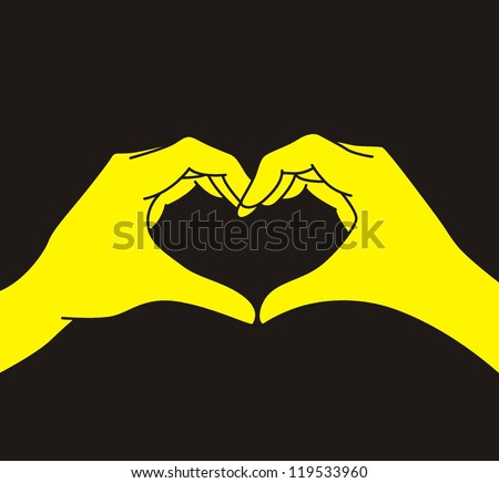 vector : hand making heart sign