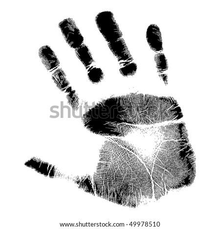 Vector hand print.