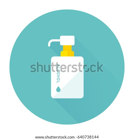 vector hand sanitizer symbol / alcohol bottle for hygiene / isolated on white, sign and icon template