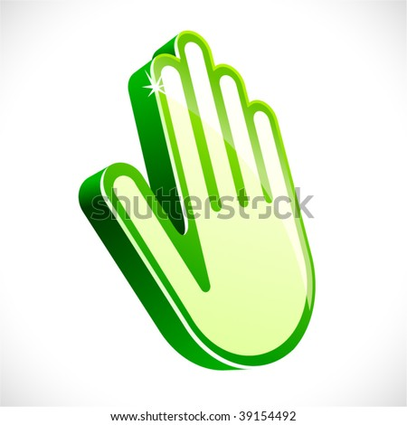vector hand sign. - stock vector
