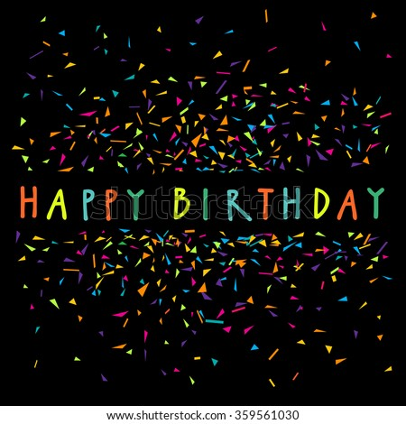 Royalty Free Colorful Vector Artistic Happy Birthday 301491431