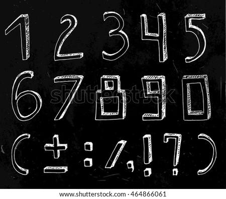 vector handdrawn figures