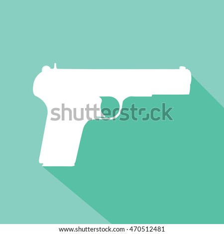 vector handgun silhouette on