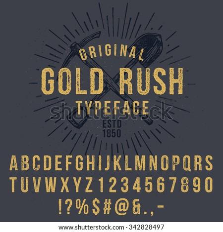 vector handmade font. vintage...