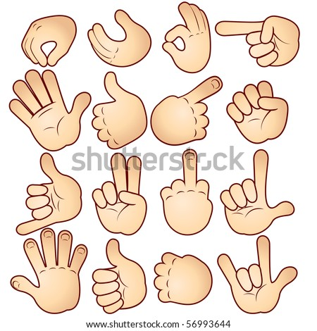 Vector hands collection