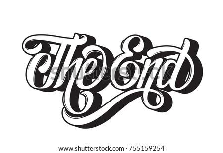 vector handwritten lettering