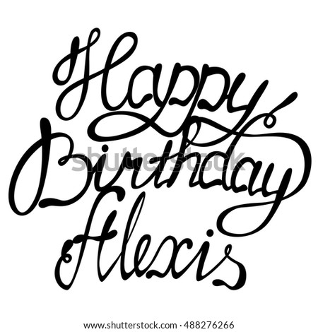 vector happy birthday alexis