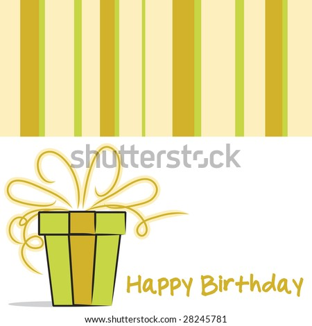 Vector Happy Birthday card layout in neutral colors