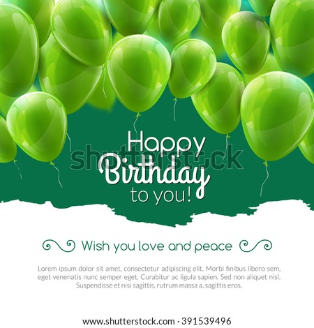 vector happy birthday card with