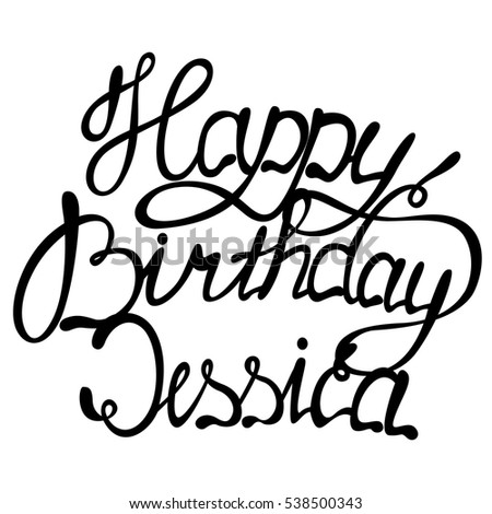 vector happy birthday jessica