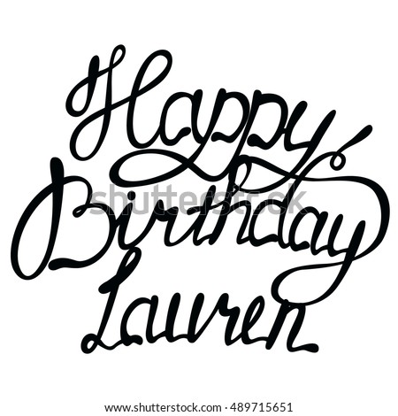 vector happy birthday lauren