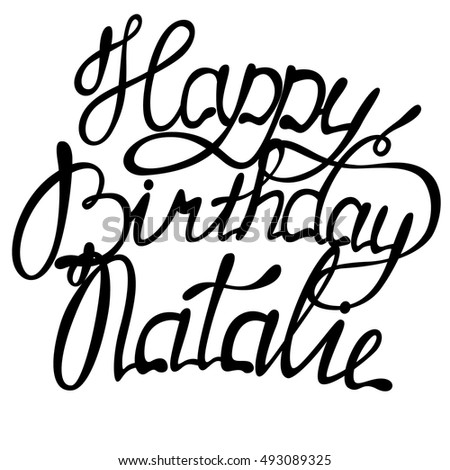 vector happy birthday natalie