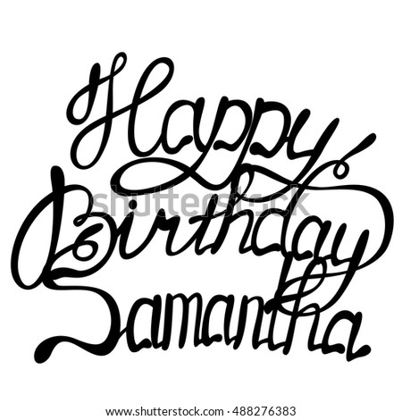 vector happy birthday samantha