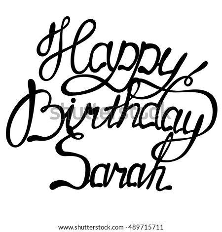 vector happy birthday sarah