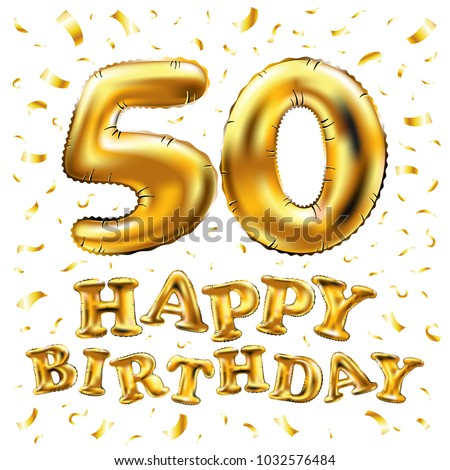 Balloon Birthday Gold Wedding anniversary, 50th anniversary transparent  background PNG clipart | HiClipart