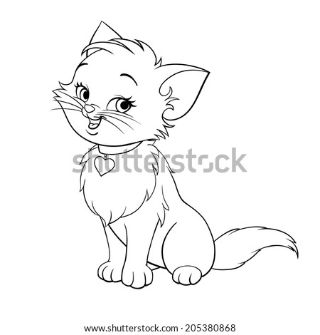 vector happy cute fun kitten