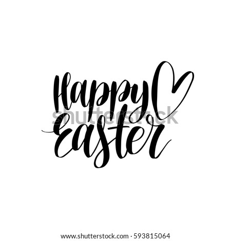 vector happy easter calligraphy