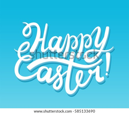 vector happy easter lettering