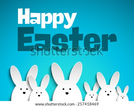 vector   happy easter rabbit