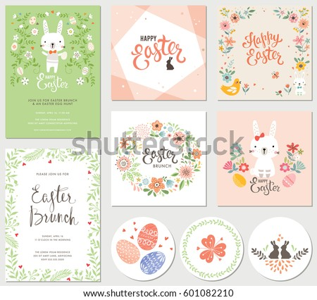 vector happy easter templates