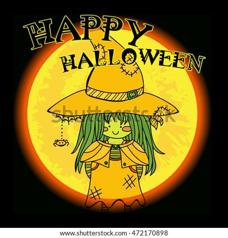 vector happy halloween greeting