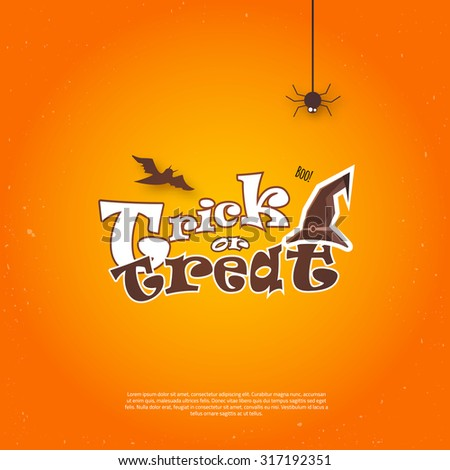 stock-vector-vector-happy-halloween-poster-invitation-with-hat-and-bat-eps