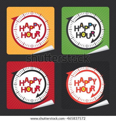 vector   happy hour campaign