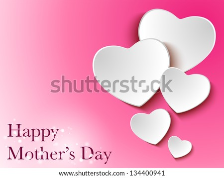 vector   happy mother day heart