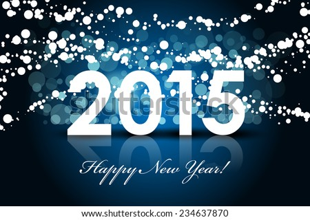 Vector 2015 - Happy New year background