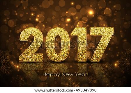 Vector Happy New Year 2017 background