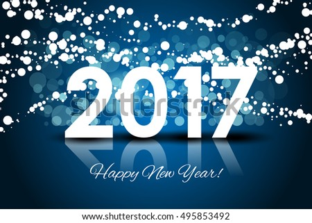 Vector 2017 - Happy New year background