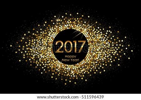 vector 2017 happy new year
