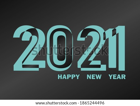 Vector Happy New Year 2021 background, illustration vector design background.