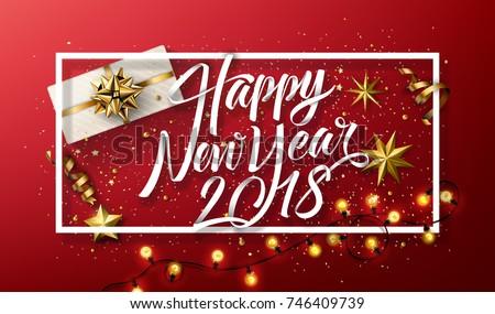 vector 2018 happy new year