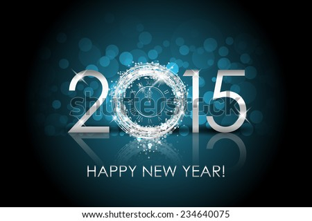 vector 2015 happy new year