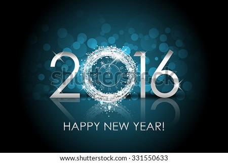 vector 2016 happy new year