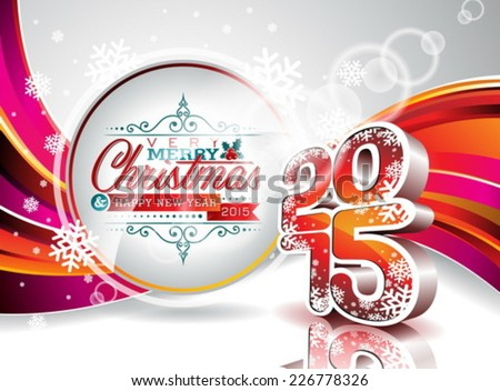 Vector Happy New Year 2015 colorful celebration background EPS 10 illustration