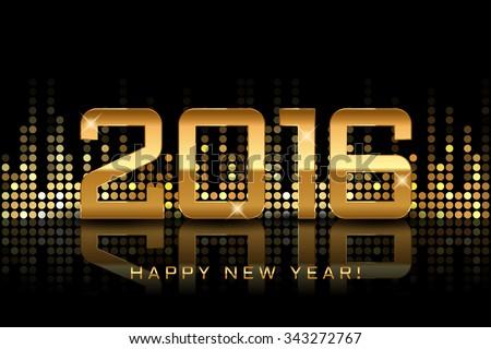 vector   happy new year 2016