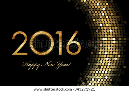 vector   2016 happy new year