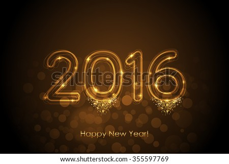 Vector Happy New Year 2016 magic background