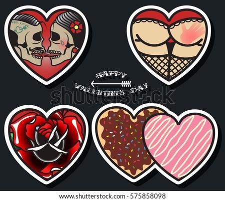 vector happy valentine's day